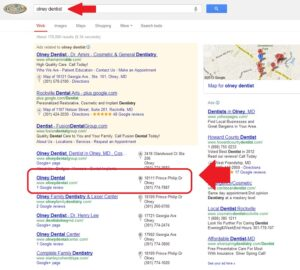 google local seo for dentist