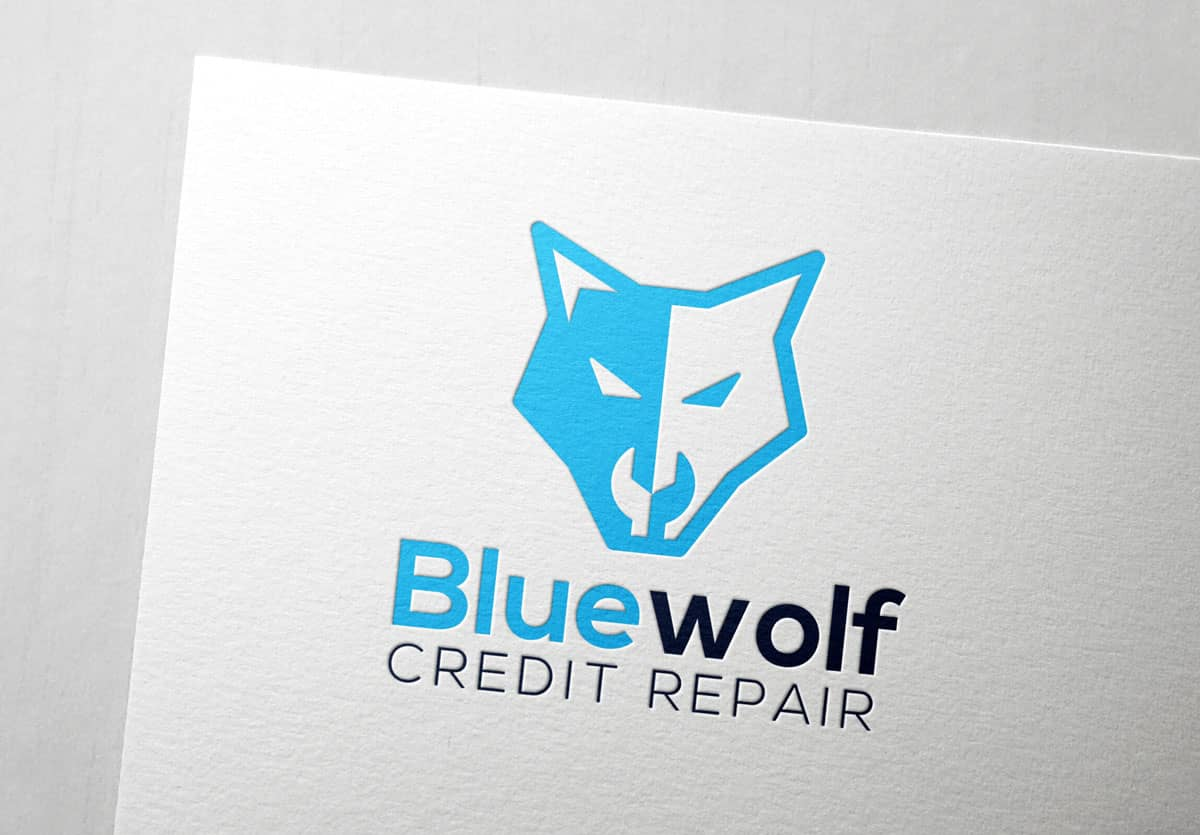 Blue Wolf Logo Mock 1