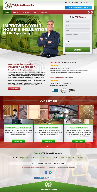 Insulation Contractor Website